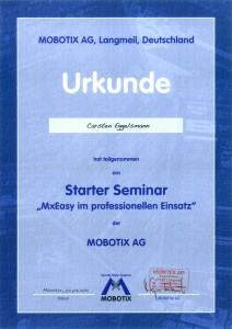 Mobotix Urkunde