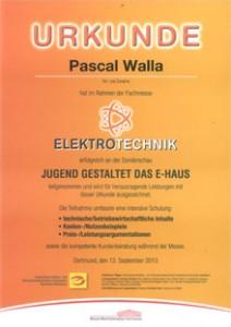 Urkunde E-Haus