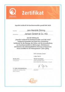 Zertifikat Rauchwarmmelder
